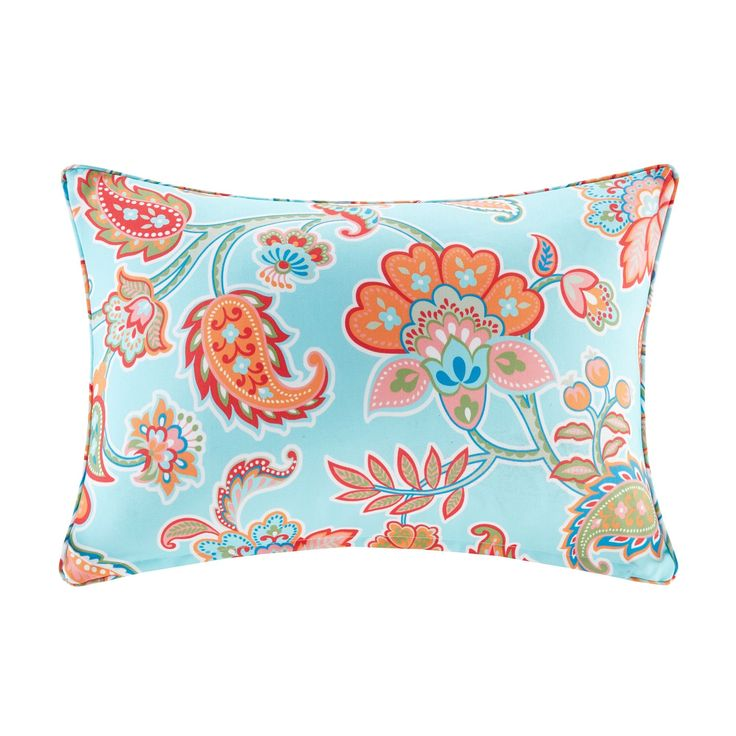 Madison Park Cambria Printed 3M Scotchgard Indoor/Outdoor Oblong Pillow 3 Color Option