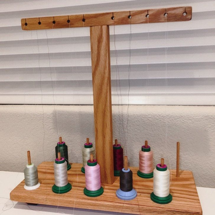 Handmade Thread Stand Holder For All Embroidery Sewing Etsy Sewing Rooms Sewing Sewing Basics