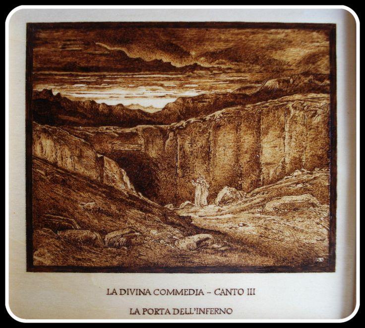 """""""Postra dell'Inferno"""", #Illustrazione #Inferno di #Dante di Simone Naldini #artigianato #pirografia http://omaventiquaranta.blogspot.it/2013/11/linferno-dantesco-di-simone-naldini.htm"""