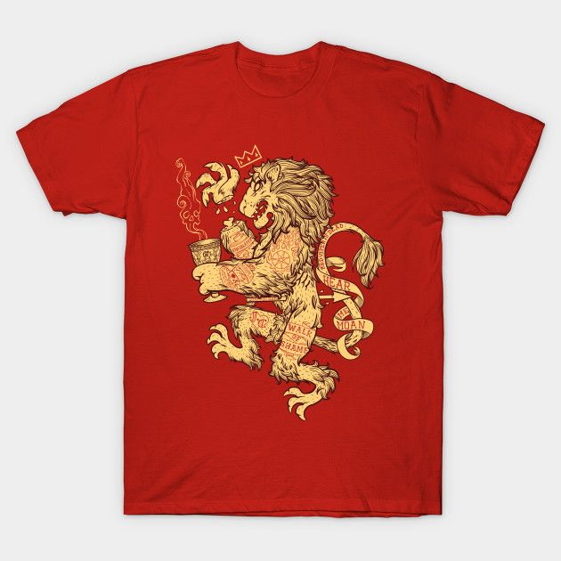 Lion Spoiler Crest T-Shirt - House Lannister T-Shirt is $12 today at TeeFury!