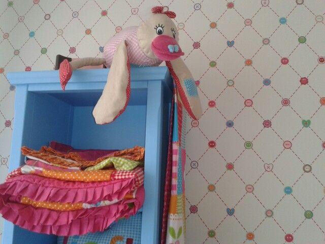 Foto gemaakt op de slaapkamer van onze dochtertjes van 1,5 en 3 jaar oud