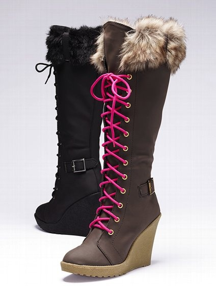 Lace-up Rain Boot - Colin Stuart - Victoria's Secret ...love both!! But probably want the brown ones first, maybe? lol $128