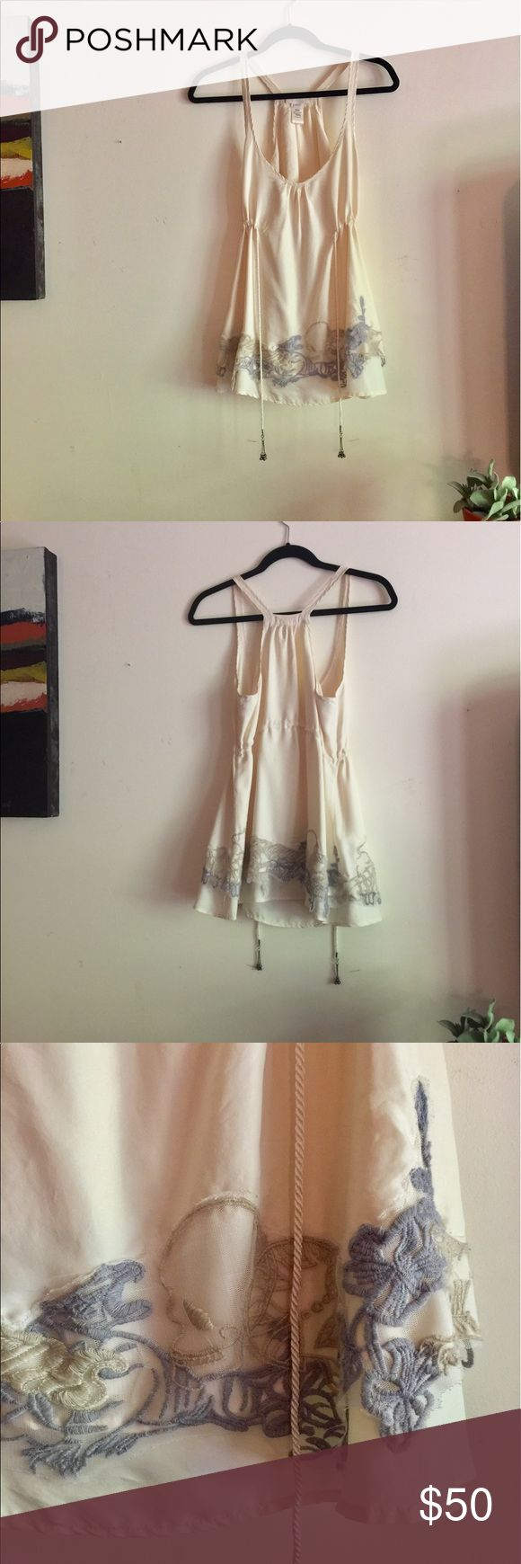 Diesel silk sleeveless top Shoulder baring, gorgeous cream silk blouse. Delicate lace details. Diesel Tops