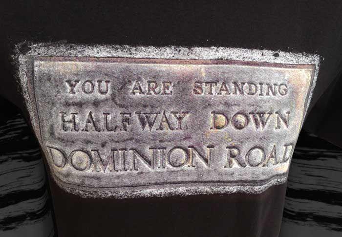 Halfway Down Dominion Road