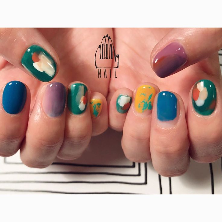 ▪○ #nail#art#nailart#ネイル#ネイルアート#colorful#nuance#paint#絵画風ネイル#ネイルサロン#nailsalon#表参道#colorful111 #nuance111#絵画ネイル111