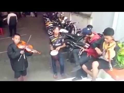 Street Musician in Indonesia