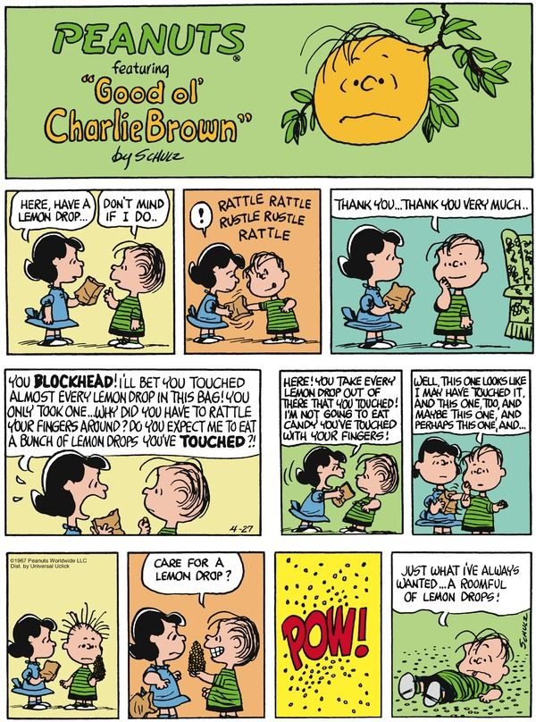 Don't mess with Lucy. Peanuts for 4/27/2014 | Peanuts | Comics | ArcaMax Publishing