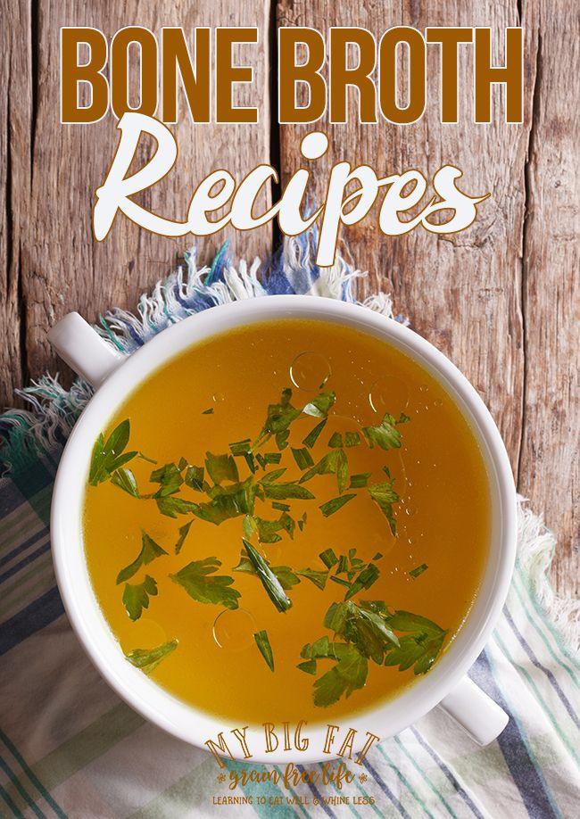 12 Bone Broth recipes plus tips from My Big Fat Grain Free Life!