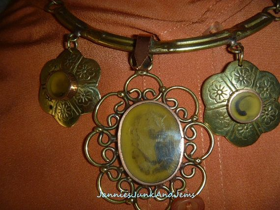 OOAK  Antique  Copper and Brass  Choke Chain Necklace  by TinTack, €100.00