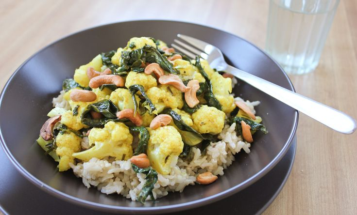 ... curry butter and toasted cashews over basmati rice #MeatlessMonday