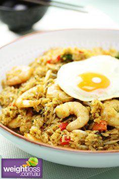 Healthy Dinner Recipes: Nasi Goreng. #HealthyRecipes #DietRecipes #WeightLoss #WeightlossRecipes weightloss.com.au