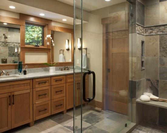 253 best images about house master bath on pinterest for Craftsman bathroom design