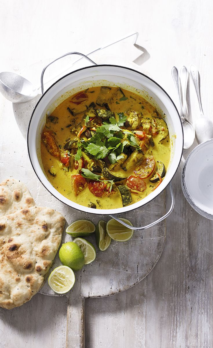 Fresh, vibrant and meatfree! This aubergine and lemongrass curry is delicious served with warm naan bread and a squeeze of lime.
