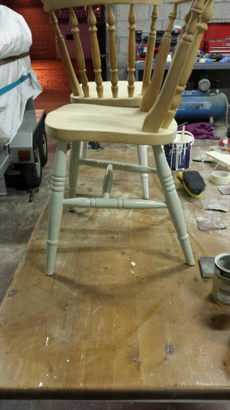 Jmc coatings re spraying preparations on transforming a chair
