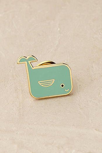 Whale Pin Badge