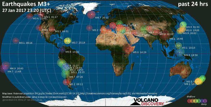 Earthquake reports and news