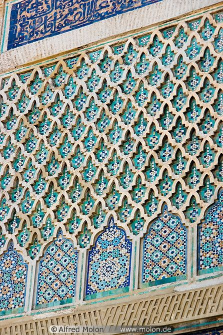 13 Wall decoration in Islamic pattern - Get the look with the Moroccan Arches Allover Wall Stencil from Royal Design Studio