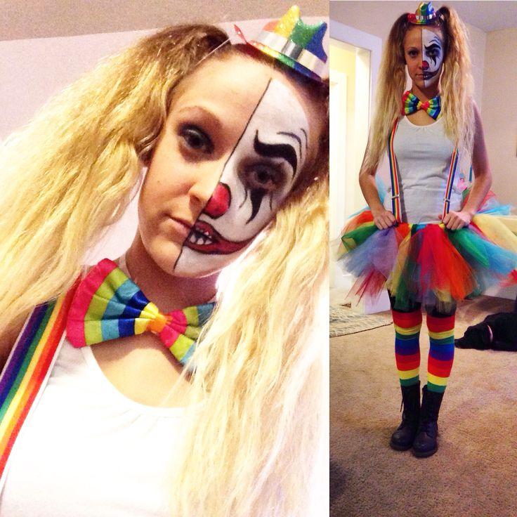 My DIY cute but scary clown costume!! ❤️ HAPPY HALLOWEEN!