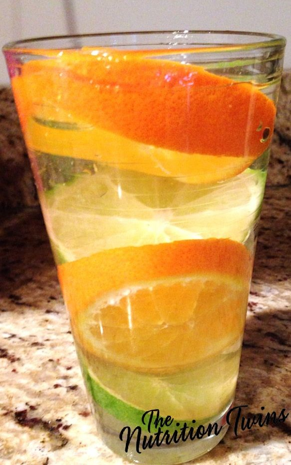 Orange-Lime Sparkling Flusher | Goodbye Puffiness, Extra Weight & Bloat | Only 5 Calories | Get Your Mind & Body Back on The Healthy Track | For MORE RECIPES, Nutrition & Fitness Tips please SIGN UP for our FREE NEWSLETTER www.NutritionTwins.com