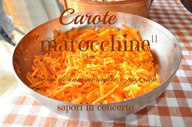 """Carote """"marocchine"""" con semi di cumino,paprica e aglio"""