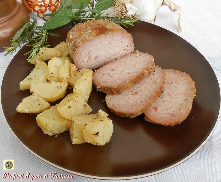 Polpettone di pollo mortadella e ricotta in forno Blog Profumi Sapori & Fantasia