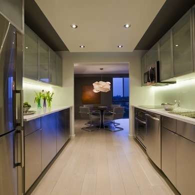 16 Gorgeous Galley Kitchens Galley Kitchen Design Galley Kitchens And Stainless Steel