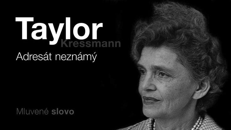 MLUVENÉ SLOVO - Kressmann Taylor, Kathrine: Adresát neznámý (DETEKTIVKA)