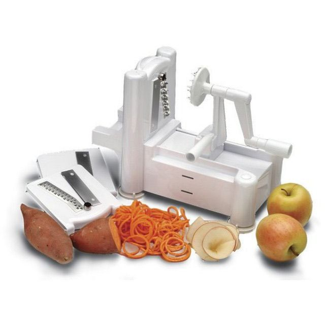 The lowdown on spiral vegetable cutters: Paderno Spiral Vegetable Slicer