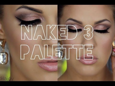 Urban Decay Naked 3 Palette | Smokey Rose Gold Eyes with Winged Liner & Pink Lips - YouTube