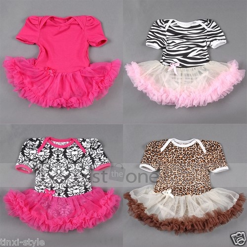 Cute Baby Toddler Girl Ruffles Tutu skirt Damask/Zebra Romper Outfit Dress 0-12M | eBay £4.18
