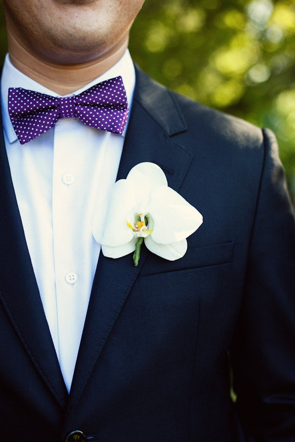 bright bold purples... With navy suits!!!