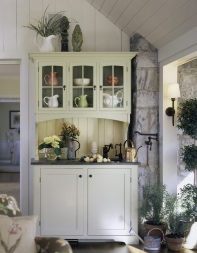 Love The Rustic Feeling Of This Hutch A Dream Cottage   Traditional   Entry    Burlington   TruexCullins Architecture + Interior Design
