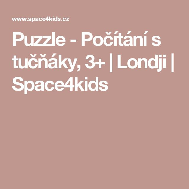 Puzzle - Počítání s tučňáky, 3+   Londji   Space4kids