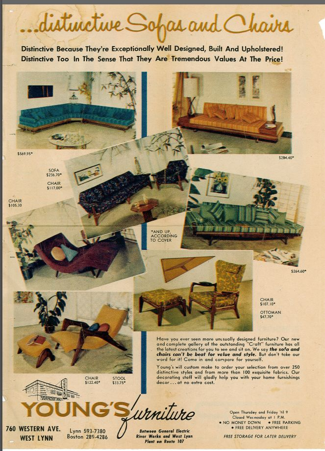 Pearsall Furniture In Youngs Furniture Ad