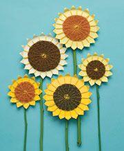 woven paper plate sunflowers Mrs. Art Teacher!