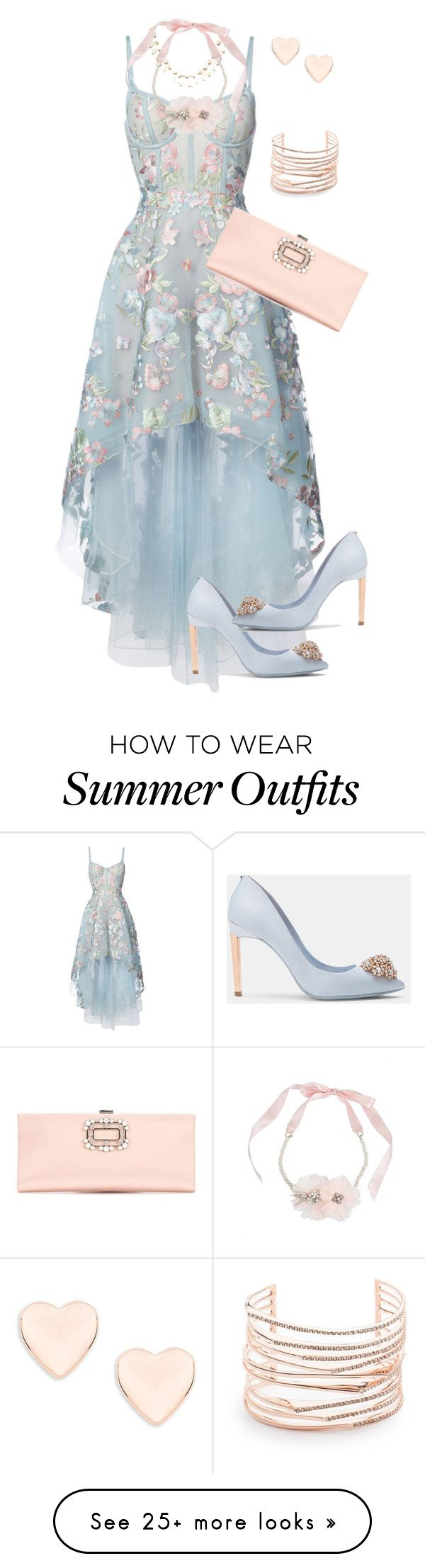 """Formal Wedding Attire"" by sherrysrosecottage-1 on Polyvore featuring Notte by Marchesa, Ted Baker, Betsey Johnson and Alexis Bittar"