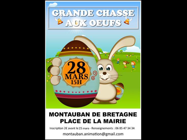 Chasse aux Oeufs de Pâques : MONTAUBAN-DE-BRETAGNE