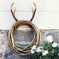 The Reindeer Wallmount and the Gold Digger hose are the perfect unexpected bling for any yard...