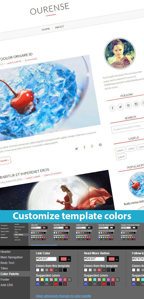 Etsy Blogger Template called Ourense by BloggerTemplate