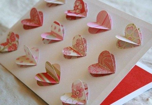 Simple Handmade Valentines day cards.