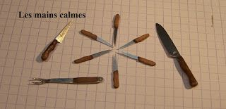 les mains calmes: Couteaux à steak miniatures