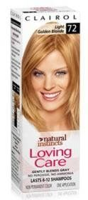 Clairol Natural Instincts loving care non permanent hair color, 72 light gold blond - 3 oz $13.99