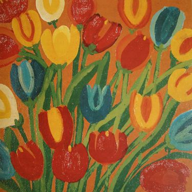 untitled picture by Maud Lewis (1903-1970), Canadian (Tulip Street)