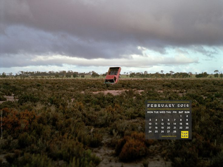 February 2014 iPad format Desktop Calendar, 'Thelma and Louise' photograph from the Australian Outback by Tammy Williams, www.tammy.co.nz