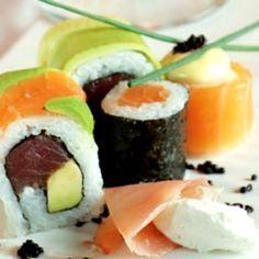 I love to eat sushi. It looks so fresh