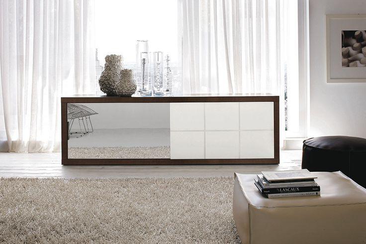 credenza a specchio : Credenza moderna con anta a specchio gruppotomasella.it
