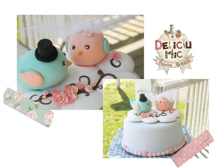 Figurine tort  păsări îndrăgostite