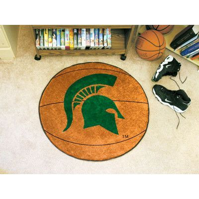 FANMATS NCAA Michigan State University Basketball Mat