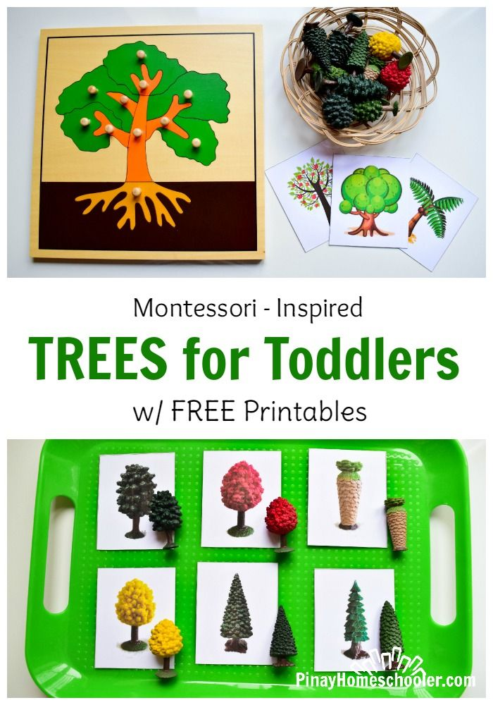 Tree-themed activities for toddlers.