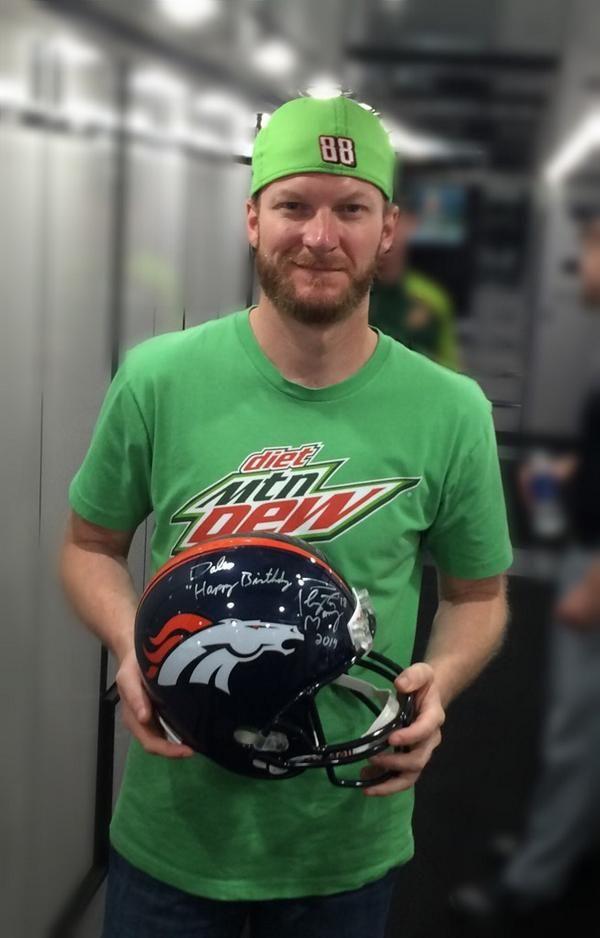 Dale Jr. - Peyton Manning Denver Bronco helmet